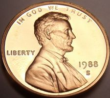 Buy Scarce United States Proof 1988-S Lincoln Cent~Double Eights~Free Shipping