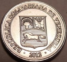 Buy Gem Unc Venezuela 2012 50 Centimos~We Have Gem Unc Coins From South America~F/S