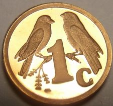Buy Rare Proof South Africa 1997 Cent~Only 3,596 Minted~Sparrows~Free Shipping
