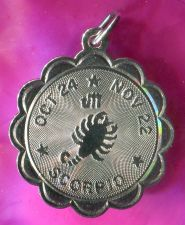 Buy SCORPIO charm CREA STERLING 925 SILVER ZODIAC HOROSCOPE ASTROLOGY
