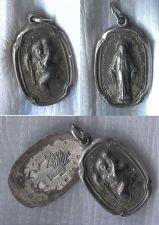 Buy Vintage Hayward Sterling Slide Open Religious Locket St Christopher & Mary Medal