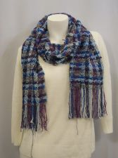 """Buy Charter Club Red/Purple Checked Fringed Knitted Winter Warm Scarfs 70""""X 10"""""""