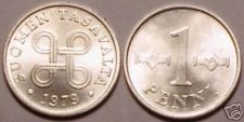 Buy UNCIRCULATED 1979 FINLAND 1 PENNI<LAST YEAR EVER MINTED