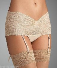 Buy X0280 Natori Josie NEW 850111 Sunset All-Over Lace Thong Removable Garter Straps