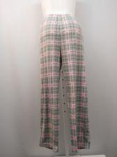 Buy SIZE 20 Womens Pajama Bottoms Gray Plaid MICRO FLEECE Sleepwear Straight Legs