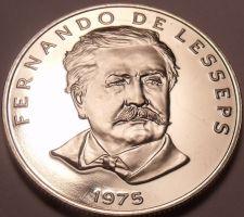 Buy Huge Proof Panama 1975 50 Centesimos~Fernando de Lesseps~1st Year~Free Shipping