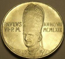 Buy Rare Gem Unc Silver Vatican 1969 500 Lire~110,000 Minted~Angel In Flight~Free Sh