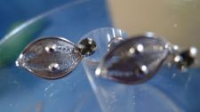 Buy Screw Back Earrings : Vintage Sterling ESPO FLEX Esposito Filigree & Rhinestones