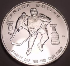 Buy Silver Proof Canada 1993 Dollar~Stanley Cup Hockey~294,314 Minted~Free Shipping
