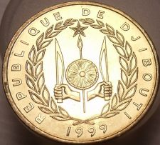 Buy Exremely Rare Gem Unc Djibouti 1999-A 10 Francs~Only 1,800 Minted~Free Shipping