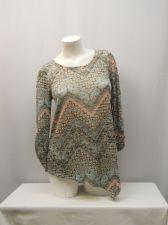 Buy Absolutely Famous Women's Knit Top Size S Paisley Asymmetrical Hem Scoop Neck