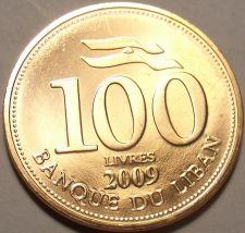 Buy Gem Brilliant Unc Lebanon 2009 100 Livres~Cedar Tree~Free Shipping