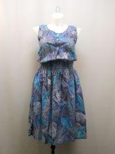 Buy Carriage Court Classic Vintage Dress Size M Animal Sleeveless Smocked Waist