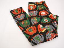 Buy SIZE XL Womens CHRISTMAS PRINT Fleece Lined Leggings NO BOUNDARIES Inseam 29