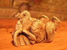 Buy ELEPHANT (1) HAND CRAFTED FIGURE WITH TRUMPET UP !!