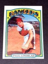 Buy VINTAGE PAUL LINDBLAD RANGERS 1972 TOPPS #396 GD-VG