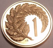 Buy Proof New Zealand 1968 Cent~Silver Fern Leaf~Only 40,000 Minted~Free Shipping