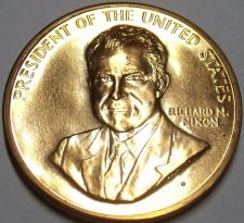 Buy Gem Unc Richard Nixon Inauguration Medallion~33.6mm~Excellent~Free Shipping