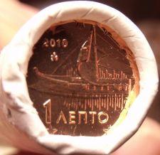 Buy Gem Unc Original Roll (50) Greece 2010 1 Euro Cents~Ancient Athenian Trireme~F/S