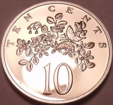 Buy Rare Proof Jamaica 1976 10 Cents~Butterfly~24,000 Minted~Excellent~Free Shipping