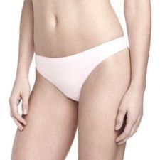 Buy A0352 Attributes NEW Women's Ultra Thin Seamless Microfiber Thong L Black White
