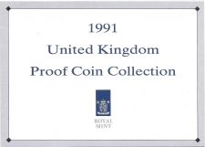 Buy 1991 Great Britain 7 Coin 2 Page C.O.A. Document Set~Free Shipping
