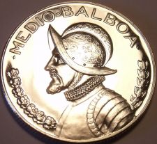Buy Rare Silver Proof Panama 1968 Half Balboa~Only 23,210 Minted~Free Shipping