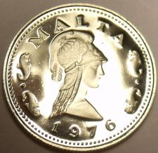 Buy Rare Proof Malta 1976 2 Cents~Penthesilea~Queen Of The Amazons~Free Shipping