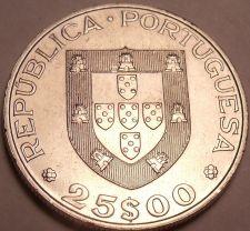 Buy Large Unc Portugal 1986 25 Escudos~Admission Into The European Common Market~F/S