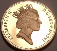 Buy Rare Gem Cameo Proof Great Britain 1991 Penny~Only 10,000 Minted~Awesome~Free Sh