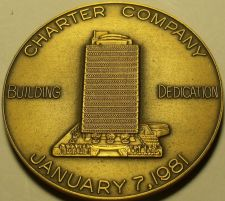 Buy Massive Bronze Charter Company Building Dedication Medallion~Fortune 500~Free Sh