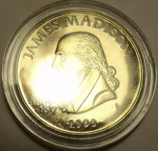 Buy MASSIVE GEM UNC LIBERIA 2000 $5~JAMES MADISON~FREE SHIP