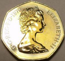 Buy Large Proof Great Britain 1979 50 Pence~Britannia~Only 81,000 Minted~Free Ship