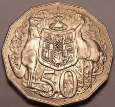 Buy Huge Australia 1978 50 Cents~Kangeroo And Emu~12 Sided~Free Shipping