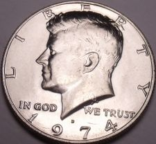 Buy United States Unc 1974-D Kennedy Half Dollar~Free Shipping