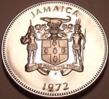 Buy Rare Proof Jamaica 1972 10 Cents~Lignum Vitale~17,000 Minted~Free Shipping