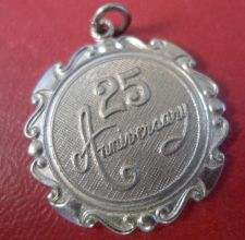 Buy Vintage Charm : Happy 25 Anniversary - Sterling Silver - 1974