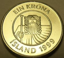 Buy Gem Unc Iceland 1999 Krona~A Giant And a Cod Fish~Fantastic~Free Shipping