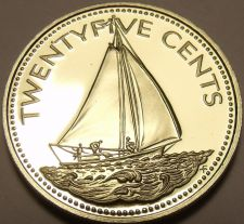 Buy Rare Proof Bahamas 1979 25 Cents~Sailboat~Only 2.053 Minted~Awesome~Free Ship