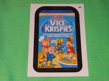 Buy RARE Willy Wonka Wacky Package Vice Krispies Collectors Sticker Card Mint