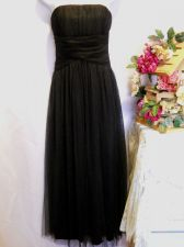 Buy Camila Clothing Black Tulle Overlay Strapless Ruched Holiday Party Dress Size M
