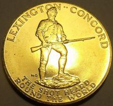 Buy Massive 1975 Gem Unc A-R-B Medallion~Paul Revere~Shot Heard Round The World~F/S