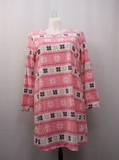 Buy SIZE XL 16 18 Womens Sleep Shirt MICRO FLEECE Long Sleeve Pullover Pink Nordic