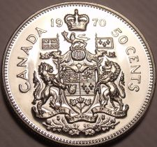 Buy Proof Canada 1970 50 Cents~645,869 Minted~We Have Canadian Coins~Free Shipping