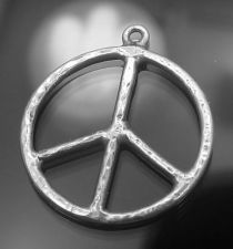 Buy CHARM : STERLING 925 SILVER PEACE SIGN signed MK
