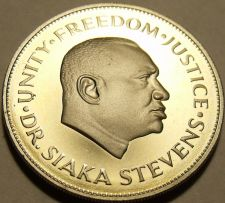 Buy Rare Proof Sierra Leone 1980 10 Cents~Only 10K Minted~Dr Siaka Stevens~Free Ship