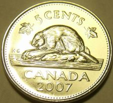Buy Gem Unc Canada 2007 Beaver Nickel~We Have Unc Canadian Coins~Free Shipping