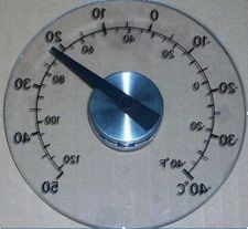 Buy Round Design Stick On Transparent Plastic Outdoor Window Thermometer