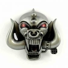 Buy Monster Motor head BELT BUCKLE,Heavy Metal Rock Band Logo,Skul Enamel Sign Badge