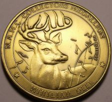 Buy Massive 38.5mm North America Hunting Club WhiteTail Deer Big Game Medallion~F/S